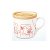 CRAFTHOLIC Mug Cup with Wood Lid CINEMA