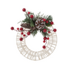 Francfranc Christmas Wreath M -White-