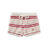 Gelato Pique Gelato Border Shorts -Christmas Pink-