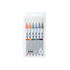 KURETAKE ZIG Clean Color Real Brush Pen Set 6color RB-6000AT/6VA