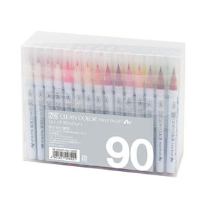 KURETAKE ZIG Clean Color Real Brush Pens 90 Color Set
