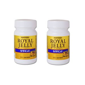 SUNTORY Royal Jelly + Sesamin E Anti Aging Supplement (120 tablets x 2 bottles)