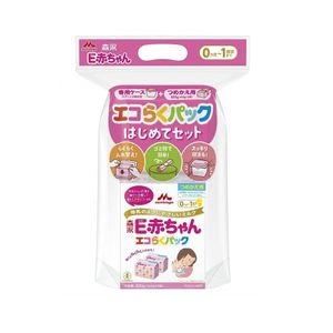 Morinaga Eco Raku Pack First Time Set E Baby 800g (400g x 2 packs)