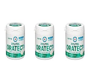 LOTTE XYLITOL ORATECT Gum Clear Mint Family Bottle 143g x 3 bottles