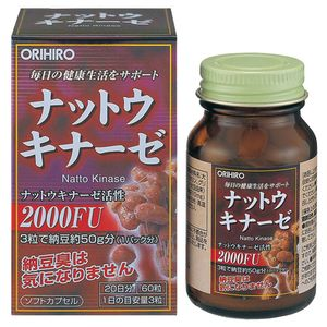 ORIHIRO Natto Kinase Supplement 60 capsules