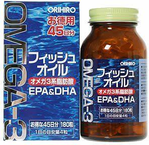 ORIHIRO Fish Oil 180 capsules