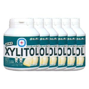 LOTTE XYLITOL Gum Bottle Type Apple Mint 90 tablets x 6 bottles
