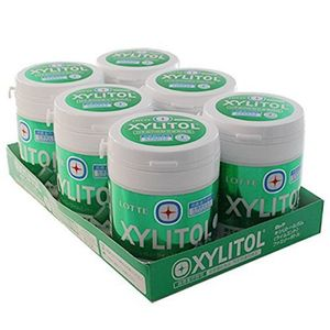 LOTTE XYLITOL Gum Lime Mint Family Bottle 143g x 6 bottles