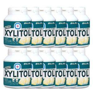LOTTE XYLITOL Gum Bottle Type Apple Mint 90 tablets x 12 bottles