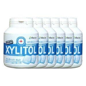 LOTTE XYLITOL Gum Bottle Type Clear Mint 90 tablets x 6 bottles