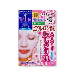 KOSE Clear Turn White Mask Hyaluronic Acid Sakura Fragrance 5 sheets