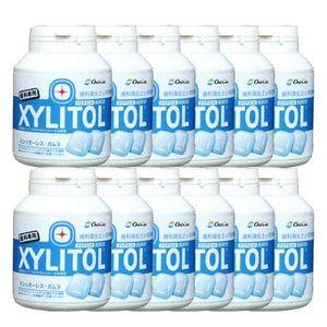 LOTTE XYLITOL Gum Bottle Type Clear Mint 90 tablets x 12 bottles