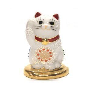 Kutani yaki Lucky Cat Right hand