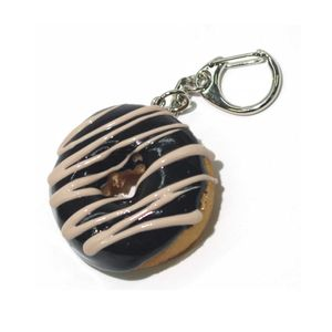 Food Sample Key Holder Donut (Choco) 047TK