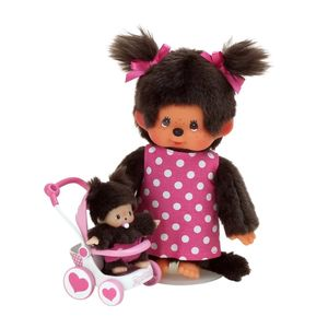 SEKIGUCHI Monchhichi Doll Baby Car Set