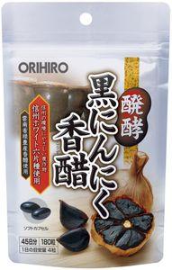 ORIHIRO Fermented Black Garlic Chinese Vinegar 180 capsules