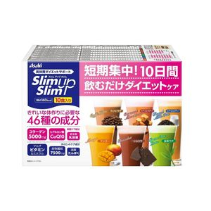 ASAHI Slim Up Slim Shake 6 flavors 45g x 10 bags