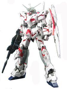 BANDAI RX-0 Unicorn Gundam HD Color with MS Cage Master Grade Figure Scale 1/100