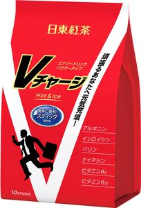 NITTOH TEA  V Charge Instant Energy Drink 10 sticks*3 bags