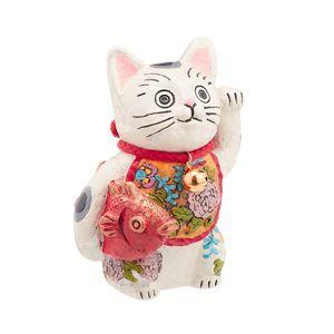 Lucky Cat for Money White SCZ-1555