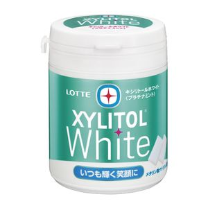 LOTTE XYLITOL White Platinum Mint Family Bottle 143g