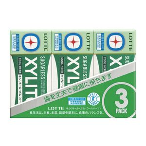 LOTTE XYLITOL Gum Cool Herb 3 packs x 10 pieces