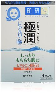 ROHTO Hadalabo Gokujun Hyaluronic Mask 20ml 4 sheets