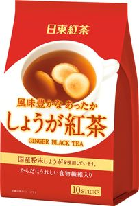 NITTOH TEA  Ginger Black Tea 10 sticks*3 bags