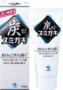 KOBAYASHI Sumigaki Charcoal Toothpaste for Odor Control and Whitening 100g