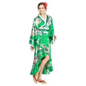 Kimono Dress Emerald Green M