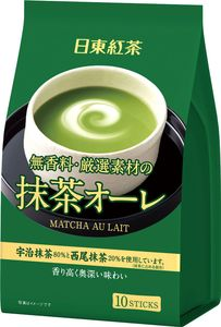 NITTOH TEA  Match Au Lait Green Tea Au Lait 10 sticks*3 bags