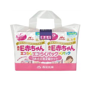 Morinaga E Baby Eco Raku Pack Refill 1600g (400g x 2 packs x 2 boxes)