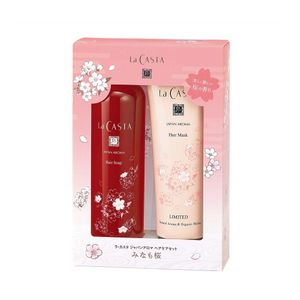 La CASTA Japan Aroma Hair Care Set Sakura Hair Soap 300ml + Hair Mask 230g