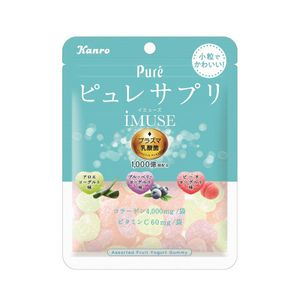 Kanro Pure Gummy Suppli iMUSE Plasma Lactic Acid Bacteria 59g x 6 bags