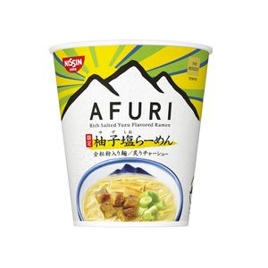 NISSIN THE NOODLE TOKYO AFURI Yuzu Salt Ramen Noodle 93g x 12 cups
