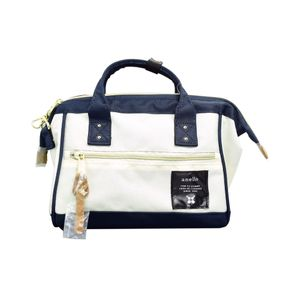 Anello 2-Way Mini Boston Bag White & Navy
