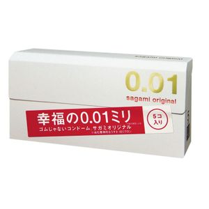 sagami original condom 0.01mm 5 pieces