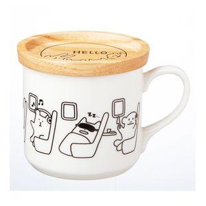 Craftholic Mug Cup With Wood Lid AIRPLANE