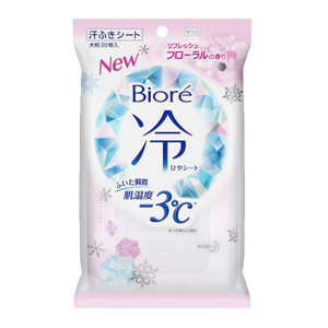 BIORE Cool Body Wipes Floral Scent 20 sheets