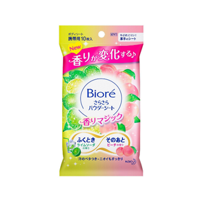 Biore sarasara powder sheet fragrance magic -lime soda and peach- 10sheets