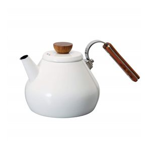 HARIO Enamel Tea Kettle Bona 800ml IH compatible BTK-80-W