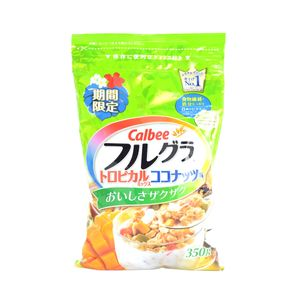 Calbee FRUGURA Fruit Granola Tropical Mix Coconut flavor 350g