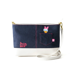 COLORS by Jennifer Sky Shoulder Bag -Daisy Denim-