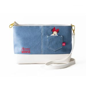 COLORS by jennifer sky shoulder bag -minnie denim-