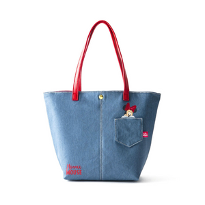 COLORS by Jennifer Sky Tote  Bag -Minnie Denim-