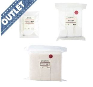 OUTLET MUJI Cotton Puff + Cut Cotton + Lotion Sheet Set
