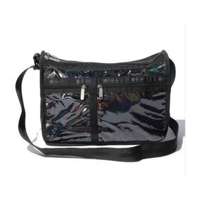 LeSportsac DELUXE EVERYDAY BAG Champagne / Black Chroma Shimmer only available in Japan
