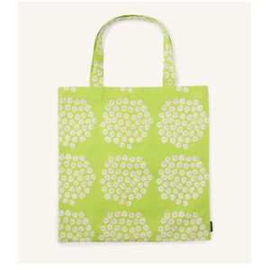 marimekko Puketti Fabric Bag Lime x Pink x White only available in Japan