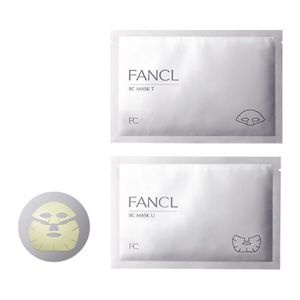 FANCL BC Mask Two-Piece Sheet Mask (Upper sheets x 6 + Lower sheets x 6)