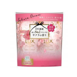 LUX LUMINIQUE Sakura Dream Shampoo Refill 350g + Treatment Refill 350g set
